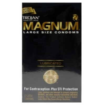 Trojan MAGNUM® Lubricated Condoms 12pk